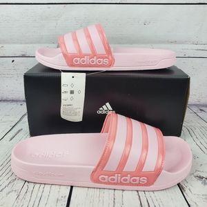 New Adidas Adilette Womens Pink Slides